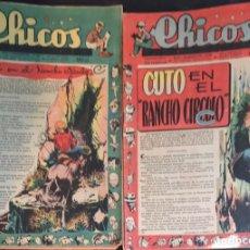Tebeos: TEBEOS CHICOS. NÚMEROS 498 A 505. AGOSTO Y SEPTIEMBRE 1948. Lote 209084400
