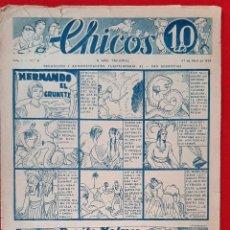 Tebeos: CHICOS AÑO I EPOCA GUERRA CIVIL Nº 8 1938 ORIGINAL CT1. Lote 212416336