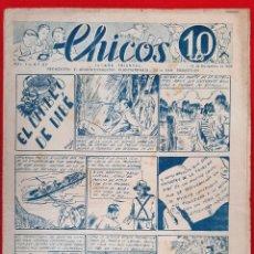 Tebeos: CHICOS AÑO I EPOCA GUERRA CIVIL Nº 37 1938 ORIGINAL CT1. Lote 212416816
