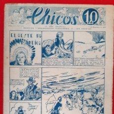 Tebeos: CHICOS AÑO I EPOCA GUERRA CIVIL Nº 40 1938 ORIGINAL CT1. Lote 212416868
