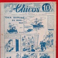 Tebeos: CHICOS AÑO I EPOCA GUERRA CIVIL Nº 41 1938 ORIGINAL CT1. Lote 212416907