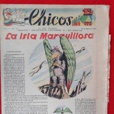 Tebeos: CHICOS AÑO I EPOCA GUERRA CIVIL Nº 47 25 ENERO 1939 ORIGINAL CT1. Lote 212417127