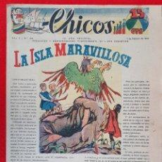 Tebeos: CHICOS AÑO I EPOCA GUERRA CIVIL Nº 48 1 FEBRERO 1939 ORIGINAL CT1. Lote 212417205