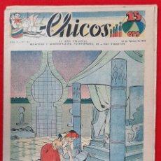 Tebeos: CHICOS AÑO I EPOCA GUERRA CIVIL Nº 51 22 FEBRERO 1939 ORIGINAL CT1. Lote 212417292