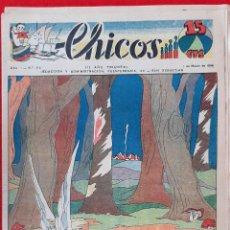 Tebeos: CHICOS AÑO I EPOCA GUERRA CIVIL Nº 52 1 MARZO 1939 ORIGINAL CT1. Lote 212417330