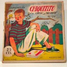 Livros de Banda Desenhada: CHIQUITITO, SUPLEMENTO DE CHICOS, Nº 28. RECORTABLES Y CROMOS. EPI DEL VALENCIA. Lote 223259822