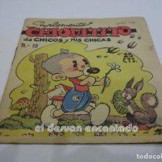 Tebeos: SUPLEMENTO CHIQUITITO DE CHICOS Y MIS CHICAS. Nº 15. JUNIO 1942. C. GIL. NUEVO. Lote 242968010