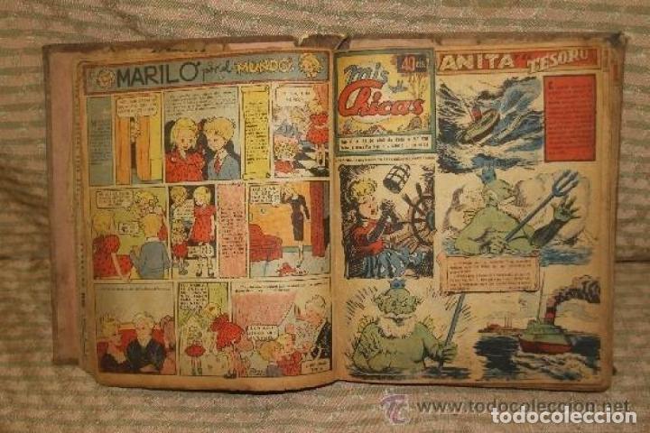 Tebeos: MIS CHICAS. PUBLICACION INFANTIL SEMANAL. FEBRERO/ JUNIO 1946. ENCUADERNADO. - Foto 2 - 245596495