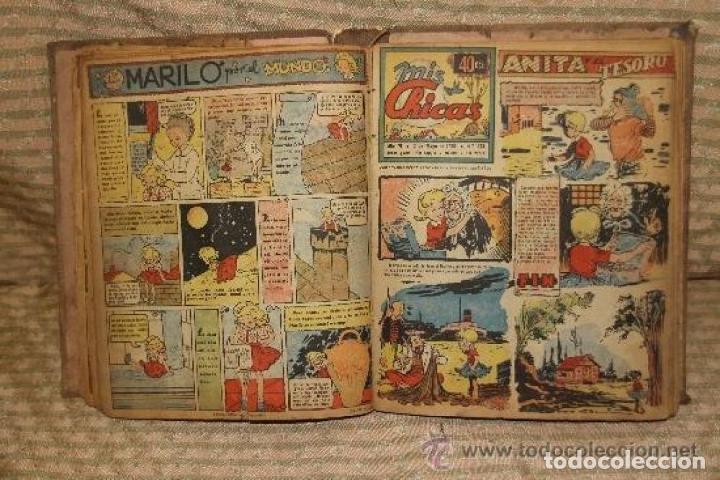 Tebeos: MIS CHICAS. PUBLICACION INFANTIL SEMANAL. FEBRERO/ JUNIO 1946. ENCUADERNADO. - Foto 3 - 245596495