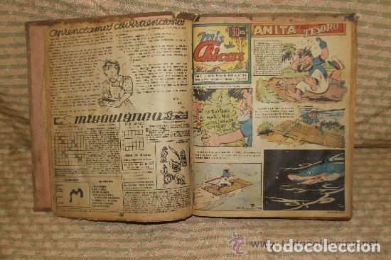 MIS CHICAS. PUBLICACION INFANTIL SEMANAL. FEBRERO/ JUNIO 1946. ENCUADERNADO. (Tebeos y Comics - Consuelo Gil)
