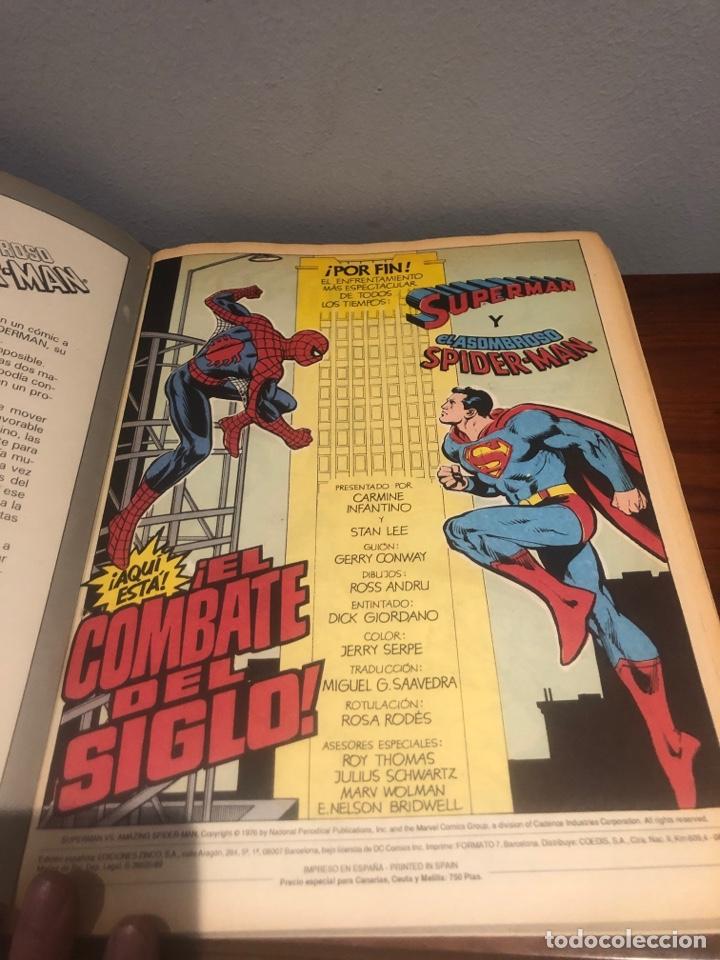 Tebeos: SUPERMAN VS EL ASOMBROSO SPIDER-MAN - El combate del siglo - Ed ZINCO - MUY BUEN ESTADO - Foto 8 - 267164229