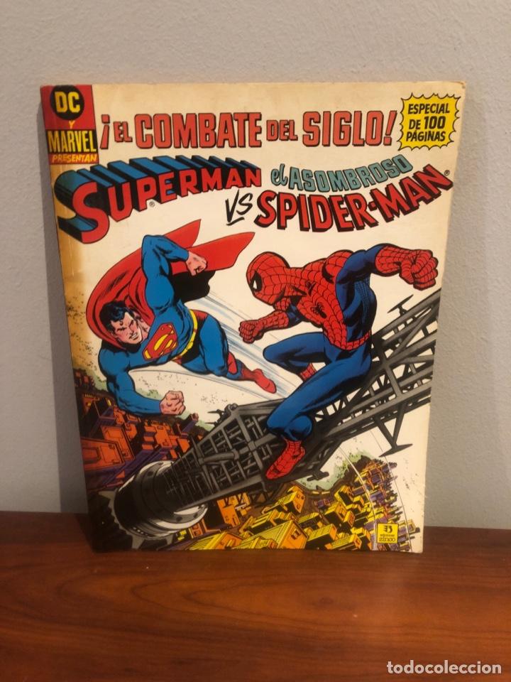 SUPERMAN VS EL ASOMBROSO SPIDER-MAN - EL COMBATE DEL SIGLO - ED ZINCO - MUY BUEN ESTADO (Tebeos y Comics - Consuelo Gil)