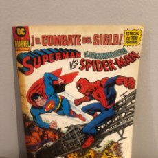 Tebeos: SUPERMAN VS EL ASOMBROSO SPIDER-MAN - EL COMBATE DEL SIGLO - ED ZINCO - MUY BUEN ESTADO. Lote 267164229