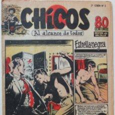 Tebeos: CHICOS, EDITORIAL CONSUELO GIL 1950 NÚMERO 3, 2A. ETAPA. Lote 269264178