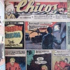 Livros de Banda Desenhada: TOMO CHICOS. 35 NÚMEROS INCLUYENDO EL 458 EN EL QUE FRANCISCO IBAÑEZ PUBLICÓ SU PRIMER DIBUJO. 1947. Lote 271676523