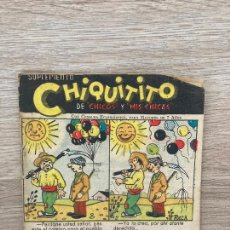 Tebeos: SUPLEMENTO CHIQUITITO Nº 15. CHICOS GILSA 1942. Lote 286275758
