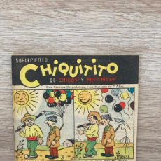 Tebeos: SUPLEMENTO CHIQUITITO Nº 15. CHICOS GILSA 1942. Lote 286275813