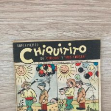 Tebeos: SUPLEMENTO CHIQUITITO Nº 15. CHICOS GILSA 1942. Lote 286275888