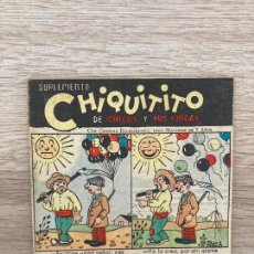 Tebeos: SUPLEMENTO CHIQUITITO Nº 15. CHICOS GILSA 1942. Lote 286276038