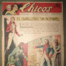 Tebeos: ANTIGUO COMIC TEBEO - CHICOS 22 ABRIL 1942 - EL CABALLERO SIN NOMBRE - NUM 210. Lote 287337313
