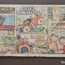 Tebeos: SUPLEMENTO DE CHICAS Nº 29 - 1ª EPOCA TAMAÑO PEQUEÑO 26 NOVIEMBRE DE 1941. Lote 288619138