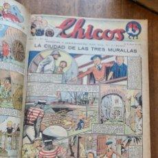 Tebeos: CHICOS - 1940-1941- AÑO II Nº 97 HASTA AÑO IV Nº 160- SON 63 NÚMEROS.. Lote 295285938