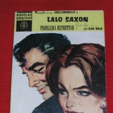 Tebeos: LALO SAXON - KENT BALD - SERIE AMARILLA Nº 34 - PROBLEMA DEPORTIVO - AÑO 1959 EDITORIAL - DOLAR . Lote 27526025