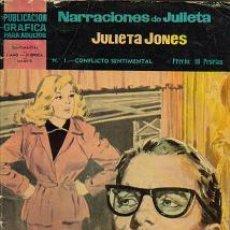Tebeos: JULIETA JONES II EPOCA ( DOLAR ) ORIGINAL 1966 LOTE. Lote 27120027