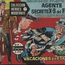 Tebeos: AGENTE SECRETO X-9 DEL F.B.I. HÉROES MODERNOS. SERIE C Nº 4. Lote 18181098