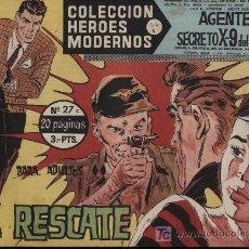 Tebeos: AGENTE SECRETO X-9 DEL F.B.I. HEROES MODERNOS DOLAR. Nº 27. Lote 18455041