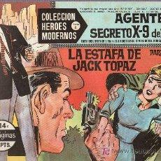 Tebeos: AGENTE SECRETO X-9 DEL FBI. COLECCION HEROES MODERNOS. SERIE C. Nº14. EDITORIAL DOLAR.. Lote 18531250
