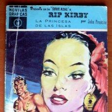 Tebeos: NOVELAS GRÁFICAS SERIE AZUL RIP KIRBY Nº 40 - EDITORIAL DÓLAR 1959. Lote 18269321