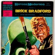 Tebeos: BRICK BRADFORD POR PAUL NORRIS, EDI. DOLAR 1966, 16 EJEMPLARES,COMPLETA - VER PORTADAS,. Lote 26622731