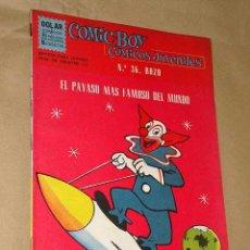 Tebeos: COMIC-BOY Nº 36. CÓMICOS JUVENILES: BOZO, EL PAYASO MÁS FAMOSO DEL MUNDO. LARRY HARMON. 1964. ++++++. Lote 24404973
