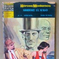 Tebeos: COMIC, HEROES MODERNOS, MANDRAKE EL MAGO, Nº 42, , DOLAR, AÑO 1960. Lote 23627703