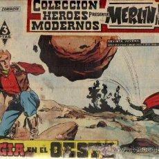 Tebeos: LOTE DE 6 EJ.COL.HEROES MODERNOS-MERLIN EL MAGO MODERNO ED.DOLAR 1958 (VER DETALLE). Lote 24713836