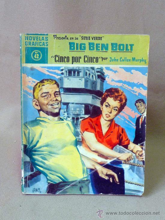 COMIC, DOLAR, ORIGINAL, BIG BEN BOLT, CINCO POR CINCO, Nº 42, 1959, SERIE VERDE (Tebeos y Comics - Dólar)