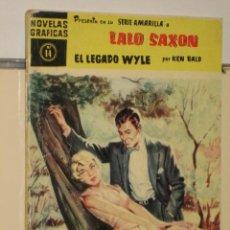 BDs: LALO SAXON Nº 14 EL LEGADO WYLE - SERIE AMARILLA - EDITORIAL DOLAR. Lote 127611502