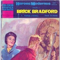 Tebeos: HEROES MODERNOS - BRICK BRADFORD Nº.9. Lote 27262461