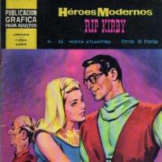 Tebeos: HEROES MODERNOS Nº 38 - RIP KIRBY NUEVA ATLÁNTIDA - DOLAR. Lote 27636839