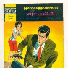 Tebeos: NOVELAS GRAFICAS HEROES MODERNOS II EPOCA Nº 6 - AGENTE SECRETO X-9 DEL FBI. Lote 28288663