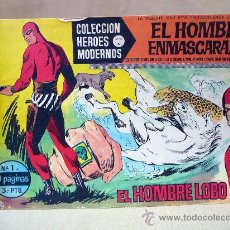 Tebeos: COMIC, EL HOMBRE ENMASCARADO, EL HOMBRE LOBO, COLECCION HEROES MODERNOS, SERIE A, Nº 1, DOLAR. Lote 28411460