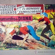 Tebeos: COMIC, EL HOMBRE ENMASCARADO, COLECCION HEROES MODERNOS, EL SECUESTRO DE DIANA, Nº 9, ORIGINAL. Lote 30718640