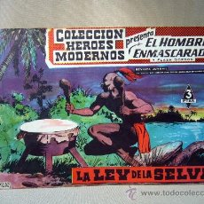 Tebeos: COMIC, EL HOMBRE ENMASCARADO, COLECCION HEROES MODERNOS, LA LEY DE LA SELVA, Nº 6, ORIGINAL. Lote 30719261