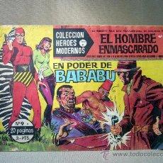 Tebeos: COMIC, EL HOMBRE ENMASCARADO Y FLASH GORDON, HEROES MODERNOS, EL PODER DE BABABU, Nº 9 . Lote 30732184