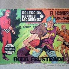 Tebeos: COMIC, EL HOMBRE ENMASCARADO Y FLASH GORDON, HEROES MODERNOS, BODA FUSTRADA, Nº 14, SERIE A. Lote 30732239