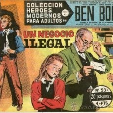 Tebeos: COLECCION HEROES MODERNOS Nº 53 * SERIE C * BEN BOLT ** DOLAR **. Lote 31880005