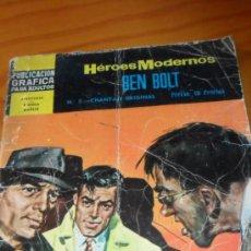 Tebeos: HEROES MODERNOS: BEN BOLT Nº5 CHANTAJE ORIGINAL. Lote 37633347