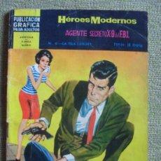 Tebeos: HEROES MODERNOS Nº 6 ** ED. DOLAR ** AGENTE SECRETO X-9 DEL FBI. Lote 38769466