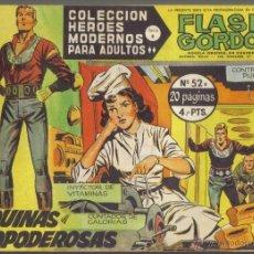 Tebeos: FLASH GORDON Nº 52. LAS MAQUINAS TODOPODEROSAS. COLECCION HEROES MODERNOS, SERIE B.. Lote 39614840